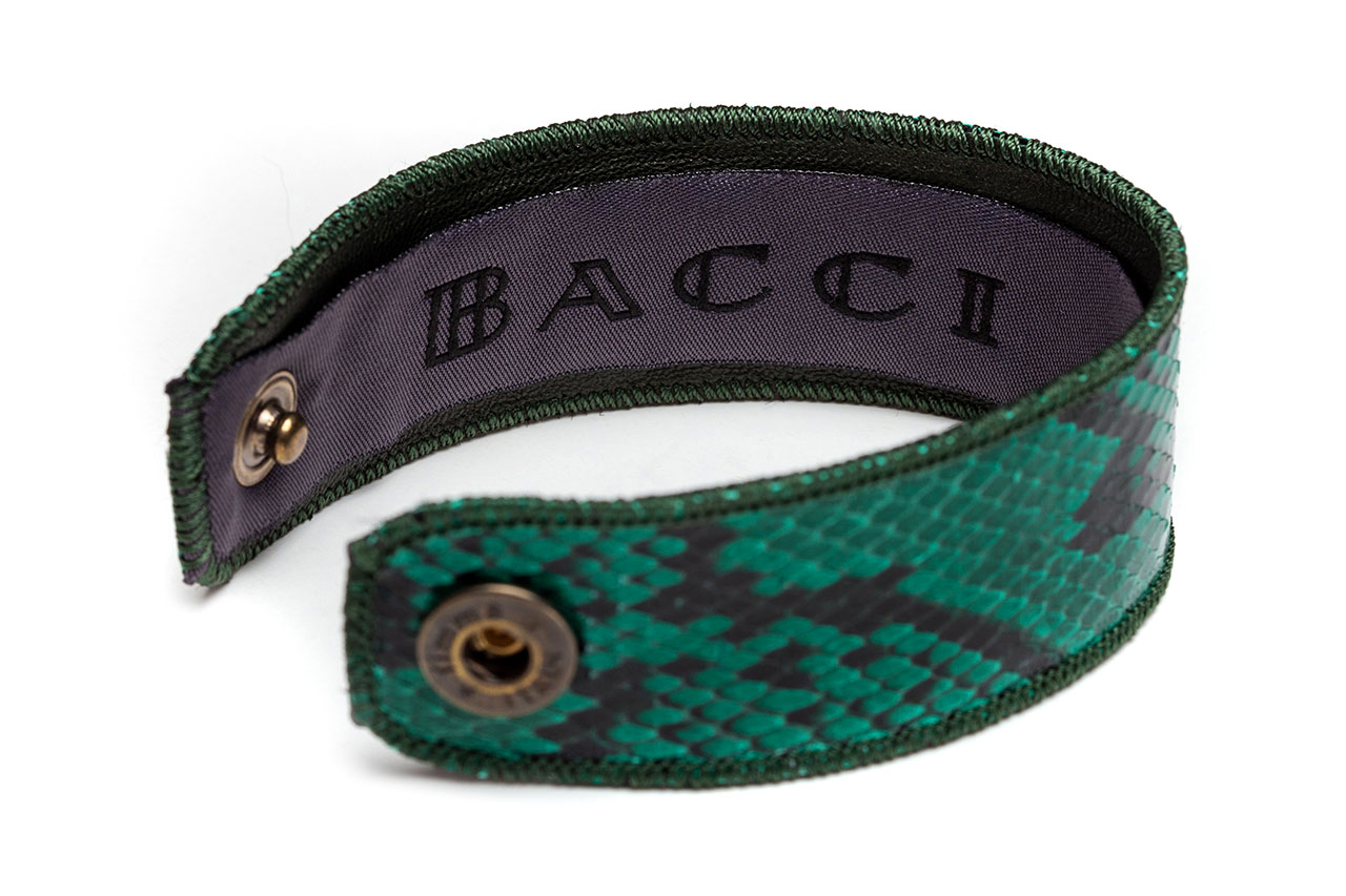 Bracelet | Snake Leather | Forestgreen