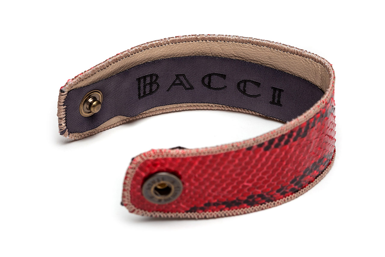 Bracelet | Snake Leather | Biking Red